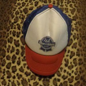 PBR Pabst blue ribbon trucker style hat